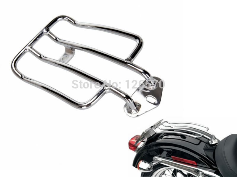 Motorcycle Parts Chrome Steel Solo Luge Rear Fender Rack Short For 2004 Up Harley Sportster Xl