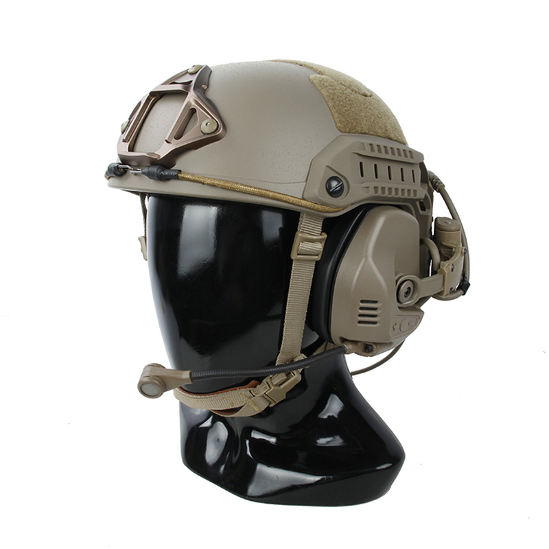 TMC Best Tactical Headsets Tactical RAC HeadSet Noise Reduction for Fast Maritime SF Highcut Sentry Helmet ARC Guide Rail