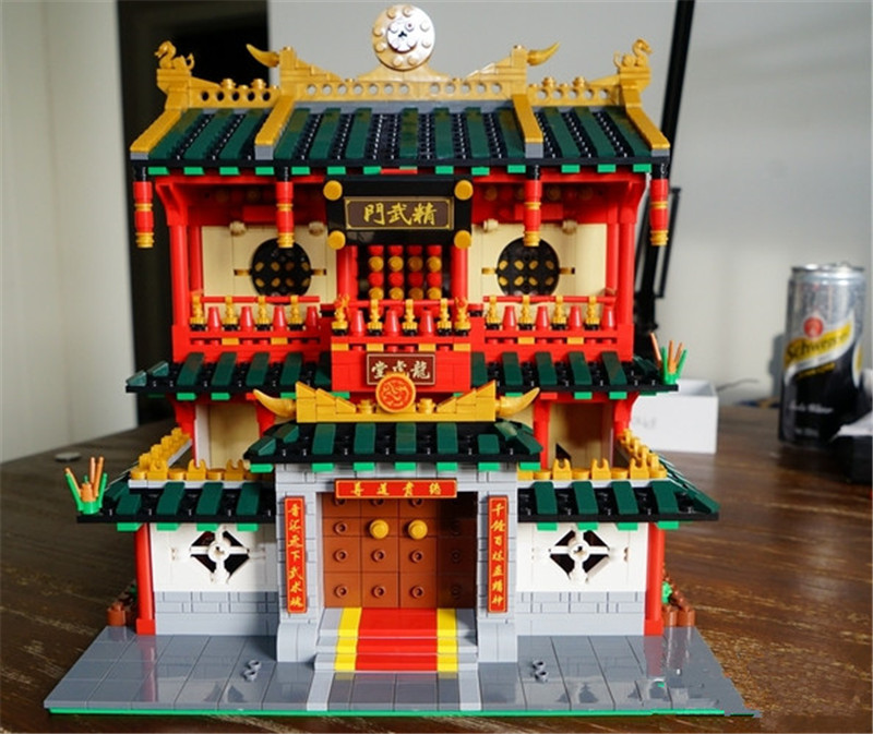 New XingBao 2882Pcs Block Genuine Creative Building Series The Chinese Martial Arts Set Building Blocks Bricks Figures Toys xingbao 01001 creative chinese style the chinese silk and satin store 2787pcs set educational building blocks bricks toys model