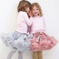 Baby Girls Fluffy 2 16Years Pettiskirt Solid Colors TUTU Tulle Mini Dance Skirt Princess party skirts LG073