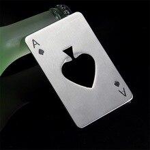 Стильный 1 шт. покер игральные карты Ace of Spades Бар Инструмент газировка, пиво, бутылка открывалка подарок