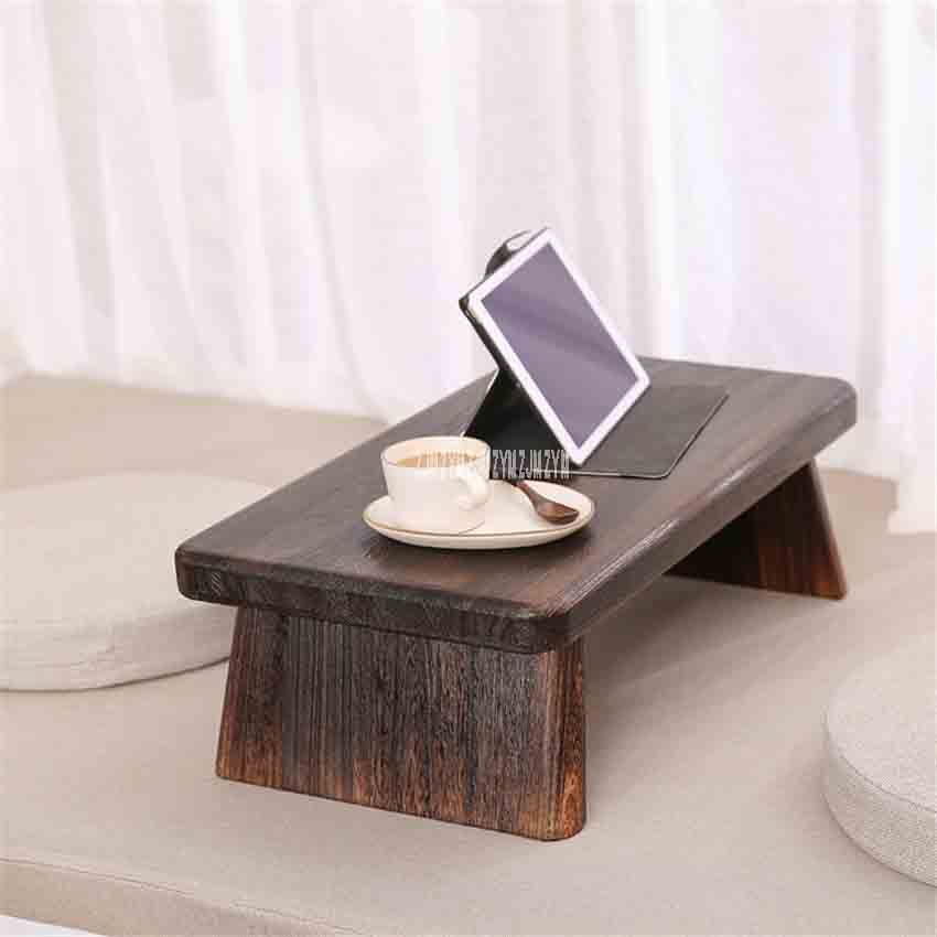 Furniture Japanese Style Antique Solid Wood Tea Table Tatami Small Coffee Table Solid Paulownia Wood Furniture Living Room Low Tea Table Café Tables