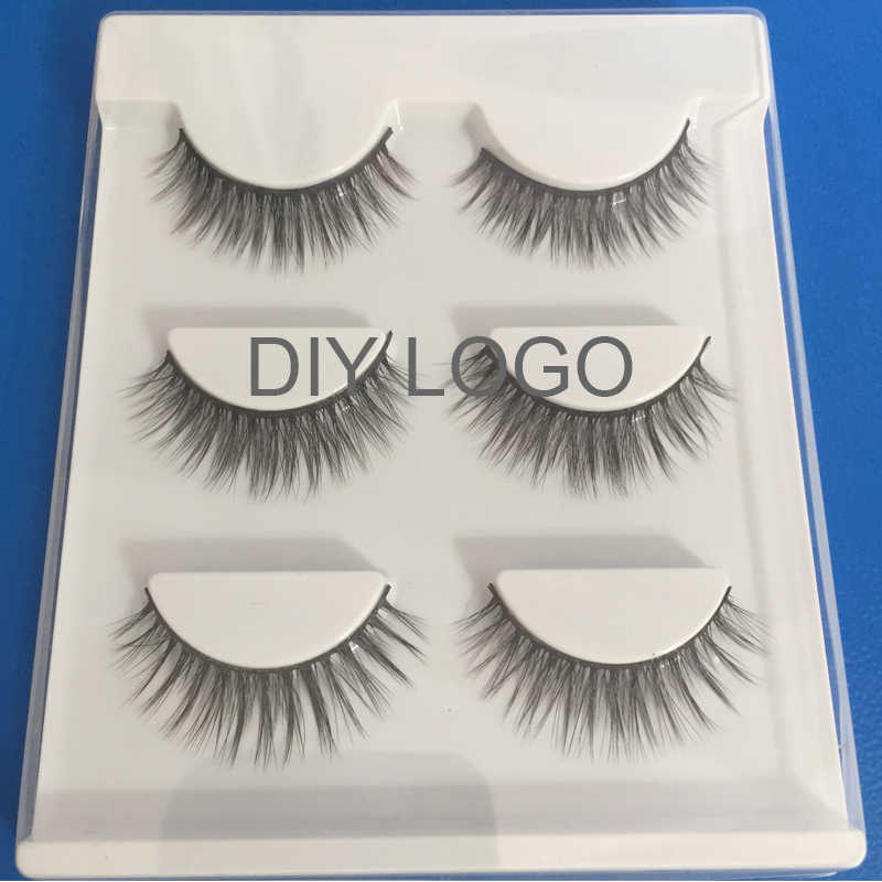 d29c7ac466e DIY LOGO packaging 3d lashes 500 boxes makeup strip mink false eyelashes  wholesale supplier private label