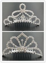 95MM Mix 2 Styles Silver Alloy & Glass Rhinestone Hair Claw Bride Tiaras Hairwear Hair Jewelry