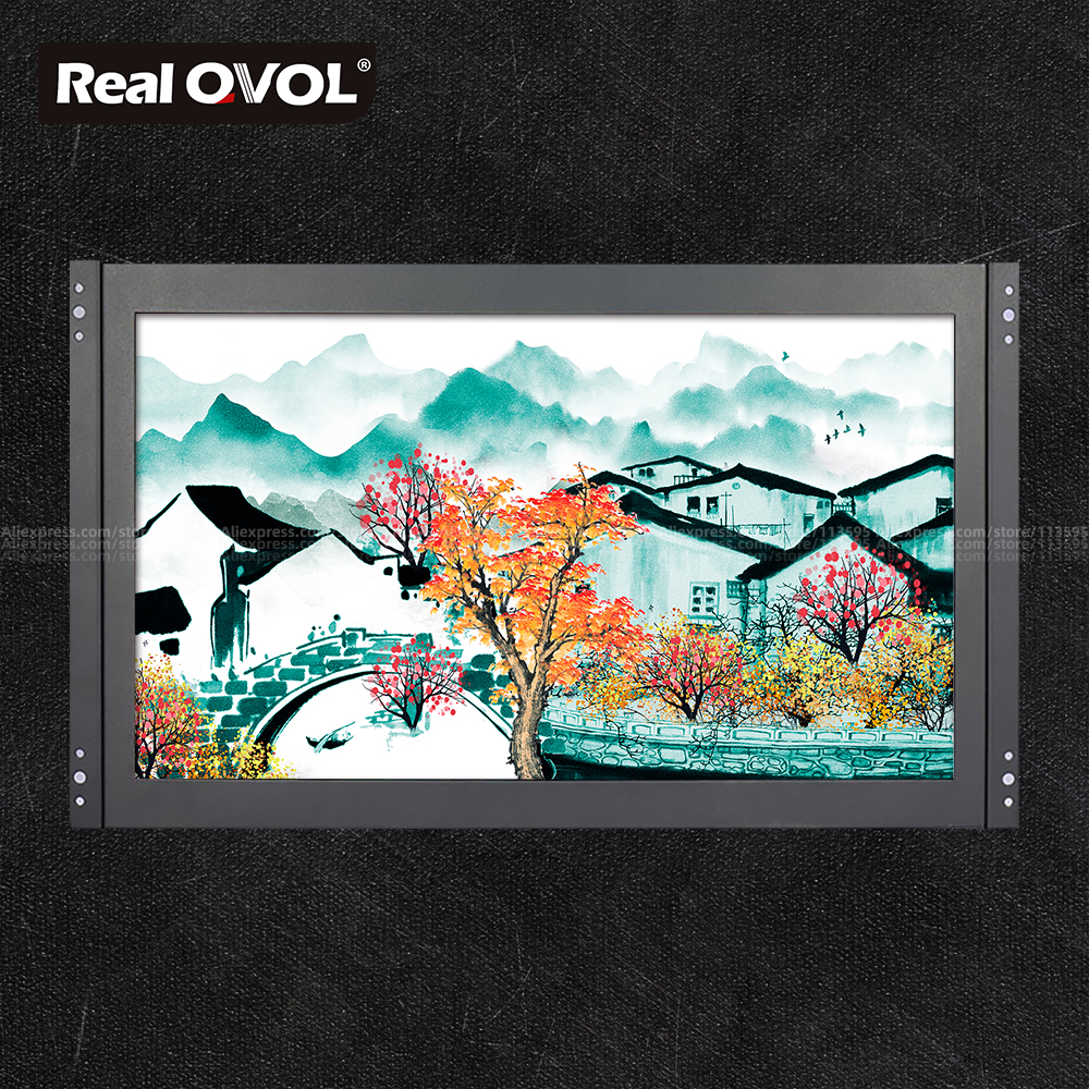 RealQvol 15.6 Inch Capacitive <font><b>Touch</b></font> <font><b>Monitor</b></font> High Resolution 1920*1080 IPS Full Viewing Angle <font><b>10</b></font> Points <font><b>Touch</b></font> VGA <font><b>HDMI</b></font> QWGC1516 image