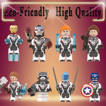 Avengers 4 Endgame Infinity War Hawkeye Thor Raccoon War Machine Black Widow Nebula Ant Man Legoe Minifigured Blocks Toys WM6054
