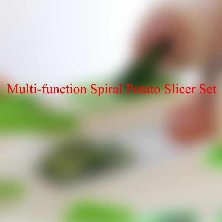 Household Multi function Spiral Potato Slicer Set Shredder Planing Machine Kitchen Slicer Grinding Fries Rub Potato