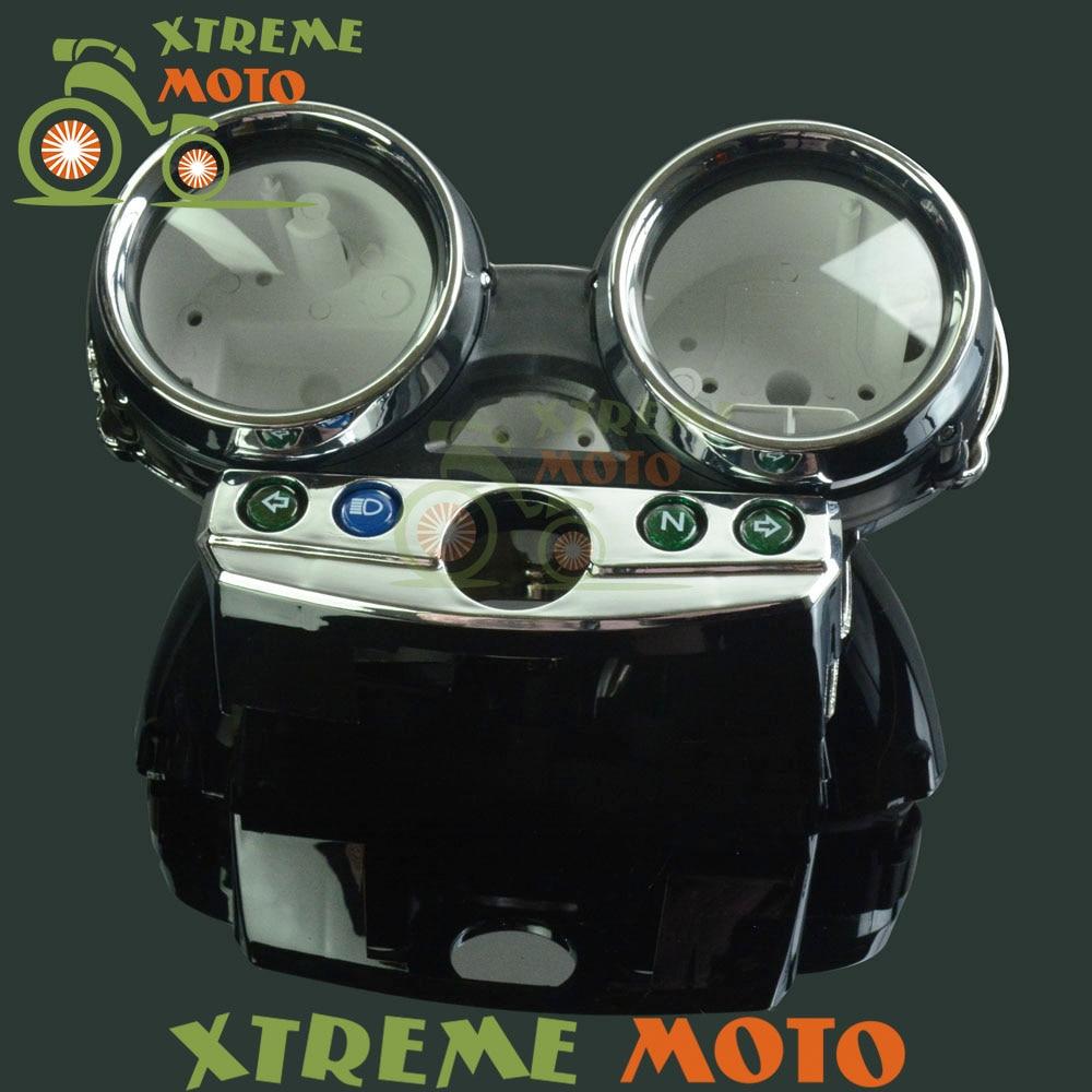 Tachymètre moto Instruments odomètre compteur de vitesse jauge compteur coque couvercle de boîtier pour Kawasaki ZRX 400 ZRX400 1998-2008