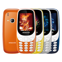 "Original Vkworld Z3310 FM Radio Elder Phone Large Buttom Bluetooth Torch 2G GSM Mobile Phone 2.0MP Camera 3D Screen 2.4"" Russian"