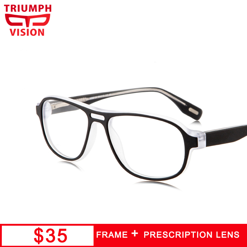 Men's Prescription Glasses Men's Glasses Sporting Triumph Vision Brand Designer Frame Rivet Prescription Glasses Men Photochromic Eyeglasses Anti Blue Ray Computer Glasses Myopia Handsome Appearance