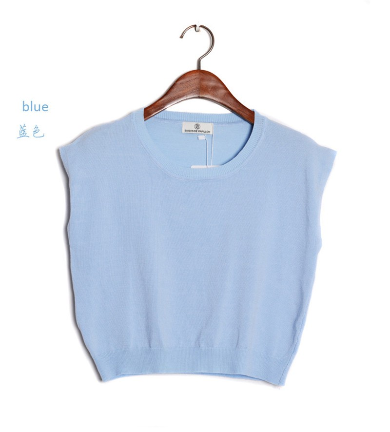 Summer 2016 Solid knitted short Pullover Sweater (15)