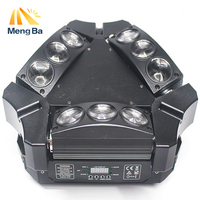 MengBa MINI LED 9x10W Spider Light CREE Led RGBW MX Stage Light Spider Moving Head light wedding/christmas light outdoor party