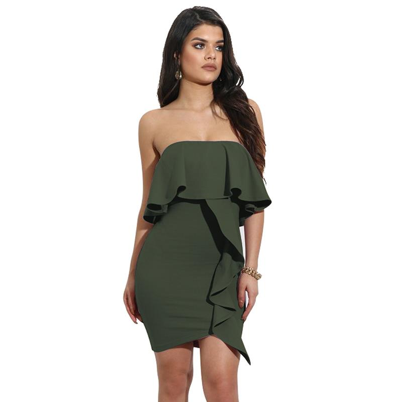 2017 New Summer Women Dress Style Off Shoulder Sexy Dresses Solid Tube  Party Club Ladies Dress Vestidos LJ9558Y-in Dresses from Women s Clothing  on ... d1adacb2c