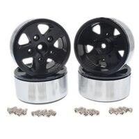 4pcs Lot Heavy Aluminum Metal 1 9 Inch BEADLOCK Wheel Rims 12mm Hex Hub For RC