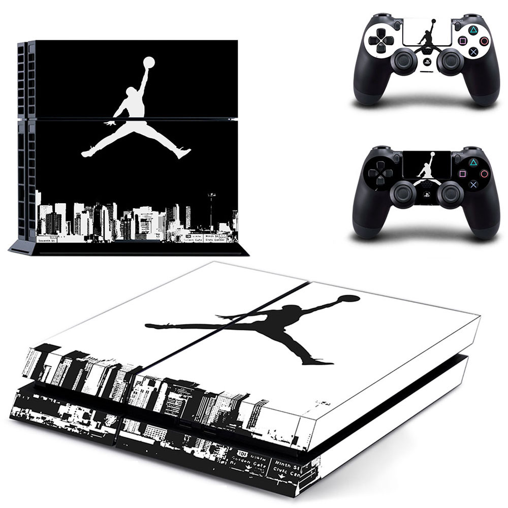 online retailer 6608e 79097 US $7.89 21% OFF Air Jordan PS4 Skin Sticker Decal Vinyl for Sony  Playstation 4 Console and 2 Controllers PS4 Skin Sticker Basketball  Legend-in ...