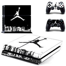 Air Jordan PS4 Kulit Sticker Decal Vinyl untuk Sony PlayStation 4 Konsol dan 2 Controller PS4 Kulit Sticker Legenda Basket(China)