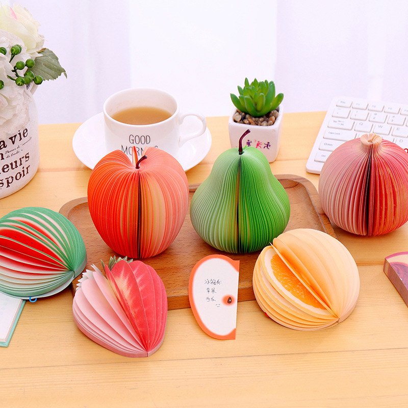 Creative Kawaii Fruit Memo Pad Cute Watermelon Orange Post It Note For Kids Korean Stationery Student