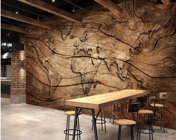 Custom Wallpaper Vintage Wood Grain World Map Background Wall Living Room Bedroom Tv Background Mural 3d Wallpaper Hq Hd Wallpapers Hq Wallpapers