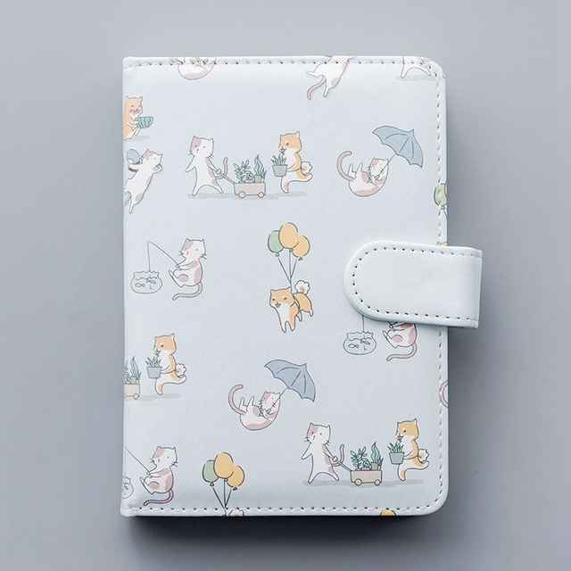 Cute Cartoon Cat and Dog Printed Notebook