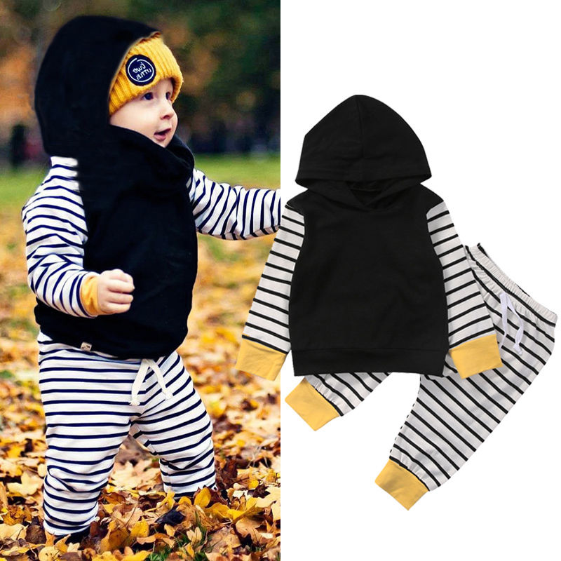 0-18M hooded Winter baby girls Clothes 2PCS newborn Cotton baby boy baby girl clothes set soft underwear baby girls pajamas 2pcs set baby clothes set boy