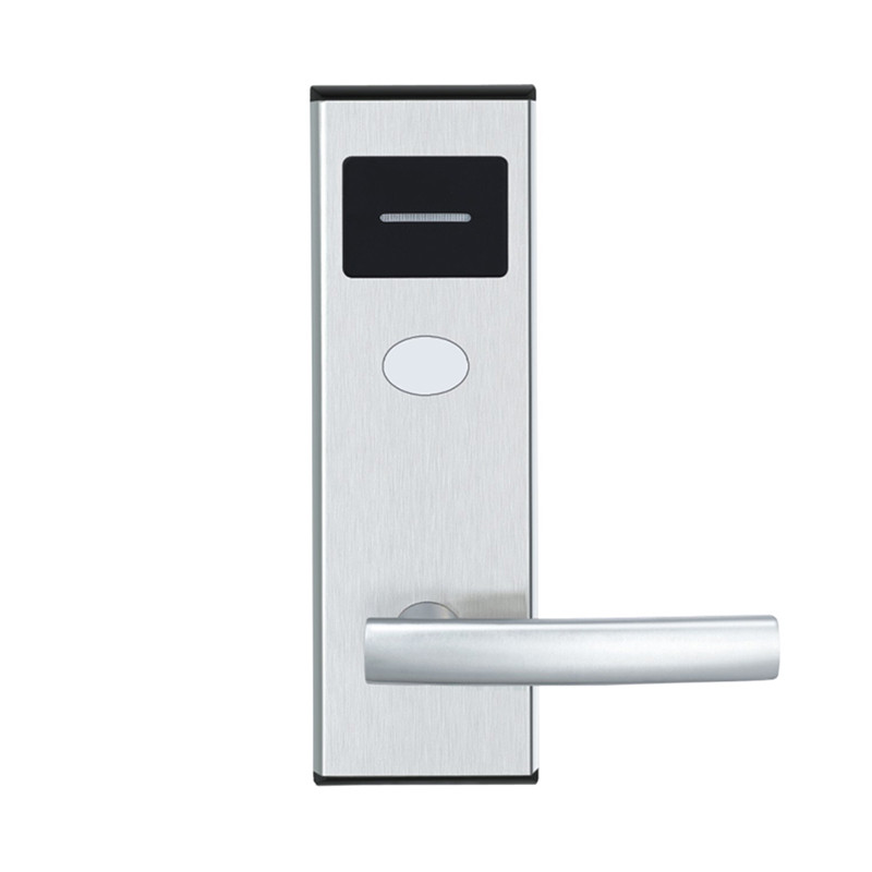 Electronic Door Lock Intelligent RFID Card with Key Lock For Home Office Hotel Room Smart Entry Stainless Steel lk110BS rfid t5577 hotel lock stainless steel material gold silver color a test t5577 card sn ca 8006