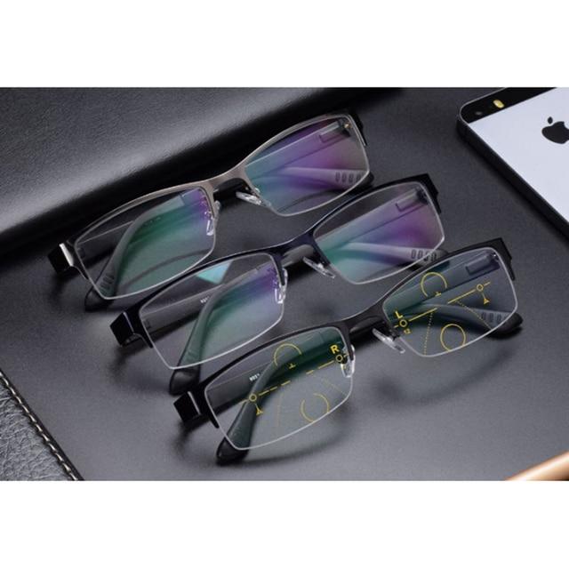 Stgrt 2019New نمط المألوف الرجال التقدمية القراءة النظارات الطبية مع التدرج عدسة مكافحة الأزرق راي Uvb 400 حماية