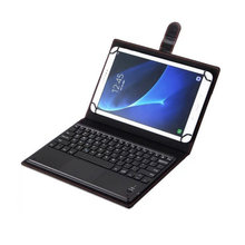 Tablet Case With Bluetooth Keyboard Wireless 10.1 PU Leather Case Stand Cover English Russian Keyboard For Android iOS Windows