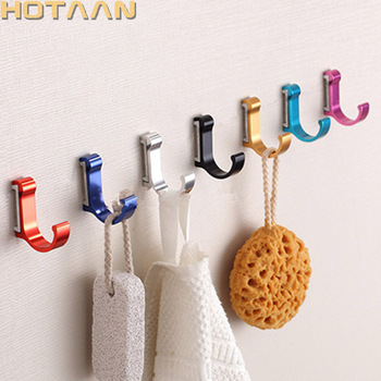 1 pc/ lot Candy Color Decorative Wall hooks& racks,Clothes hanger & Metal & Towel & coat&Robe hook.Bathroom Accessories HYT-3000