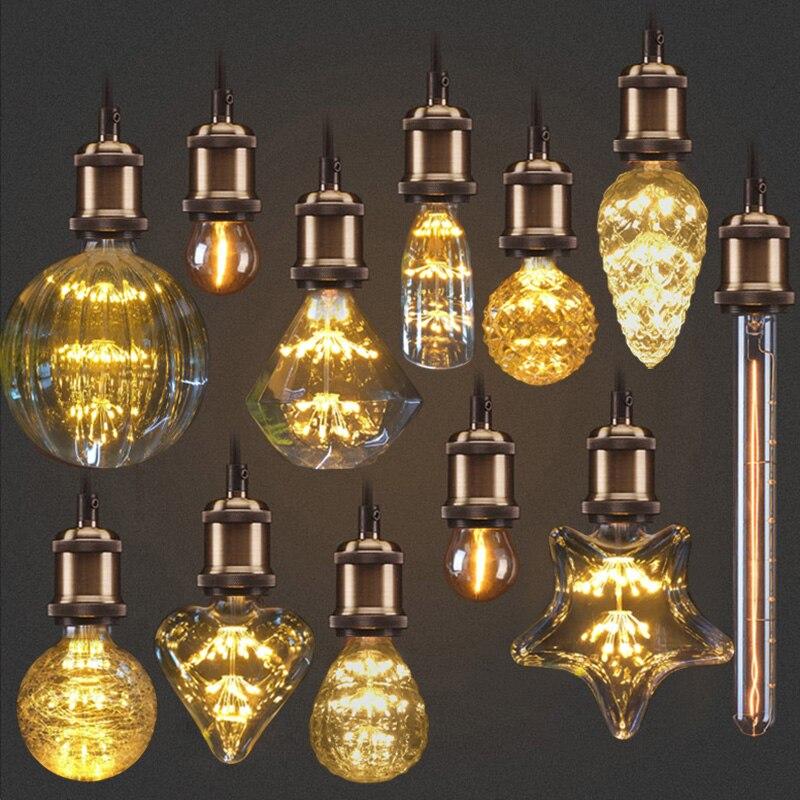 LAIMAIK Edison Birne E27 3 Watt Glühlampen Retro Lampe 220 V 110 V Ampulle  Vintage Birne Edison Lampe Filament Licht Birne Retro Beleuchtung