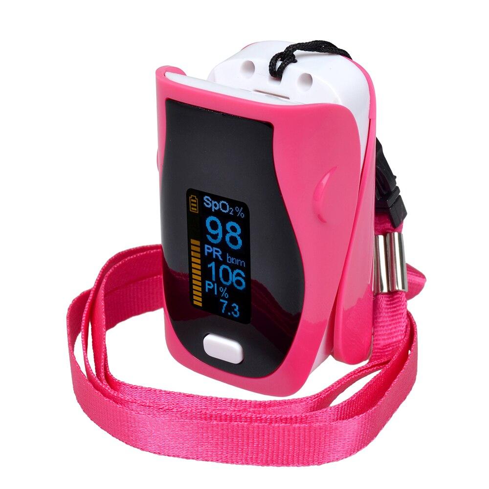 ELERA 5pcs lot Digital Finger Pulse Oximeter Blood Oxygen Saturation SpO2 Monitor SPO2 PR PI Oximetro