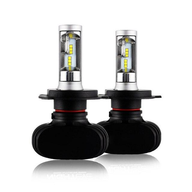 1 Pair H1 H4 H7 9005 LED Headlight Kit Light Lamp Bulb High Low Beam 50W 8000LM 6500K White IP68 LED Headlight Bulbs