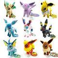 Nuevo Pokemon Eevee Espeon Umbreon Vaporeon Flareon Glaceon Felpa Suave Juguete Muñeca Kawaii para Niños Juguetes Para Niños Muñecas 2016 Caliente