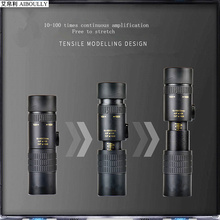 10-100 times long distance monocular telescope 500m telescopic lens hunting lookout tool Field Survival Supplies Travel goods