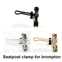 3colors Bicycle Seat Post Clamp Folding Hook Ti Aluminum Alloy For Brompton Seatpost Clamp Bike Part