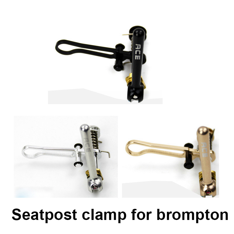 3colors Bicycle Seat Post Clamp Folding Hook Ti + Aluminum Alloy For Brompton Seatpost Clamp Bike Part aest 31 8mm aluminum alloy bicycle seat post clamp red