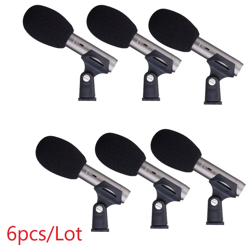6pcs Lot Takstar cm 60 professional recording microphone portable condenser MIC for musical instrument band stage