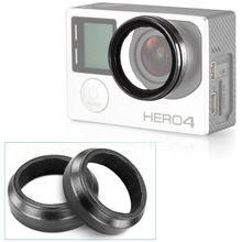 2PCS UV Action Camera Protective Accessories Lens Cover Optical Glass Lens Cover for Gopro Hero 4