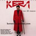 Красный кашемир длинный жакет и пиджаки пальто для певица танцор ds dj джаз производительность ночной клуб бар жених мужчины бар мода пром
