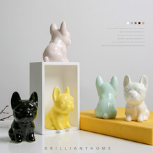 Home Ceramic Dog Decorative Ornaments Lovely Creative Personality Bedroom Girl Heart ZSP0105947