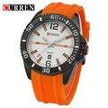 Curren 2016 moda casual reloj de cuarzo de los hombres relojes deportivos a prueba de agua de silicona marca de relojes reloj reloj de los hombres 8178