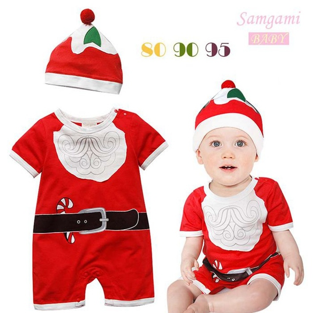 83f63d7ec1774 3sets/lot Wholesale Christmas Costumes for Kids Clothes Sets Baby Suit  Romper + Hat Newborn Infant Wear Bebe Clothing Outerwear-in Clothing Sets  from ...