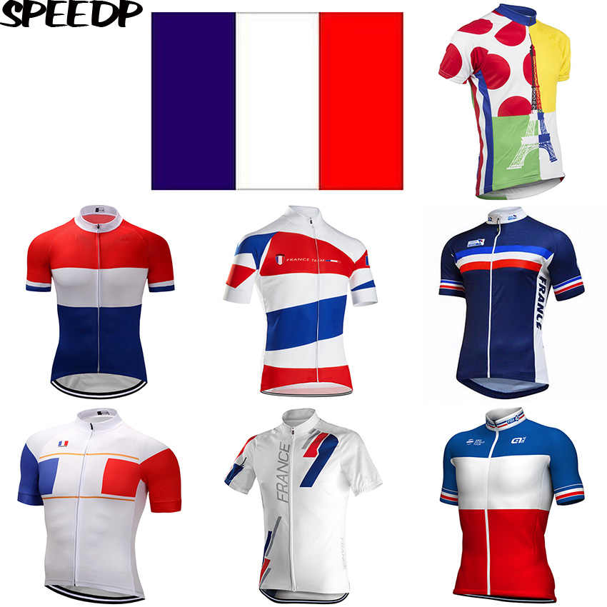SPEED PEAK Arbitrary Choices Pro FRANCE Flag Men Short Sleeve Cycling  Jersey Top Summer Quick Dry 7c5a86442