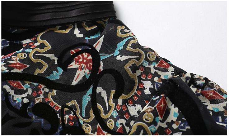Smthma Las De Floral Nuevo Blusa Es 2019 Gasa Alta Picture Diseñador Camisa Impreso Calidad Encantador Color Mujeres Casual 01xA0wr