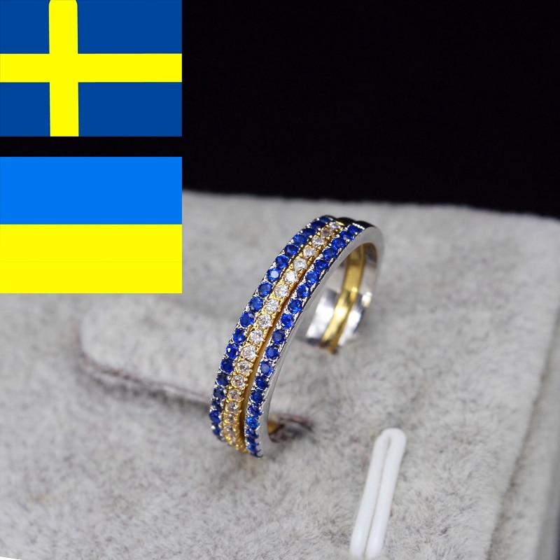 CWWZircons blagovna znamka moda 3 kos Engegament poročni prstan set - Modni nakit - Fotografija 3