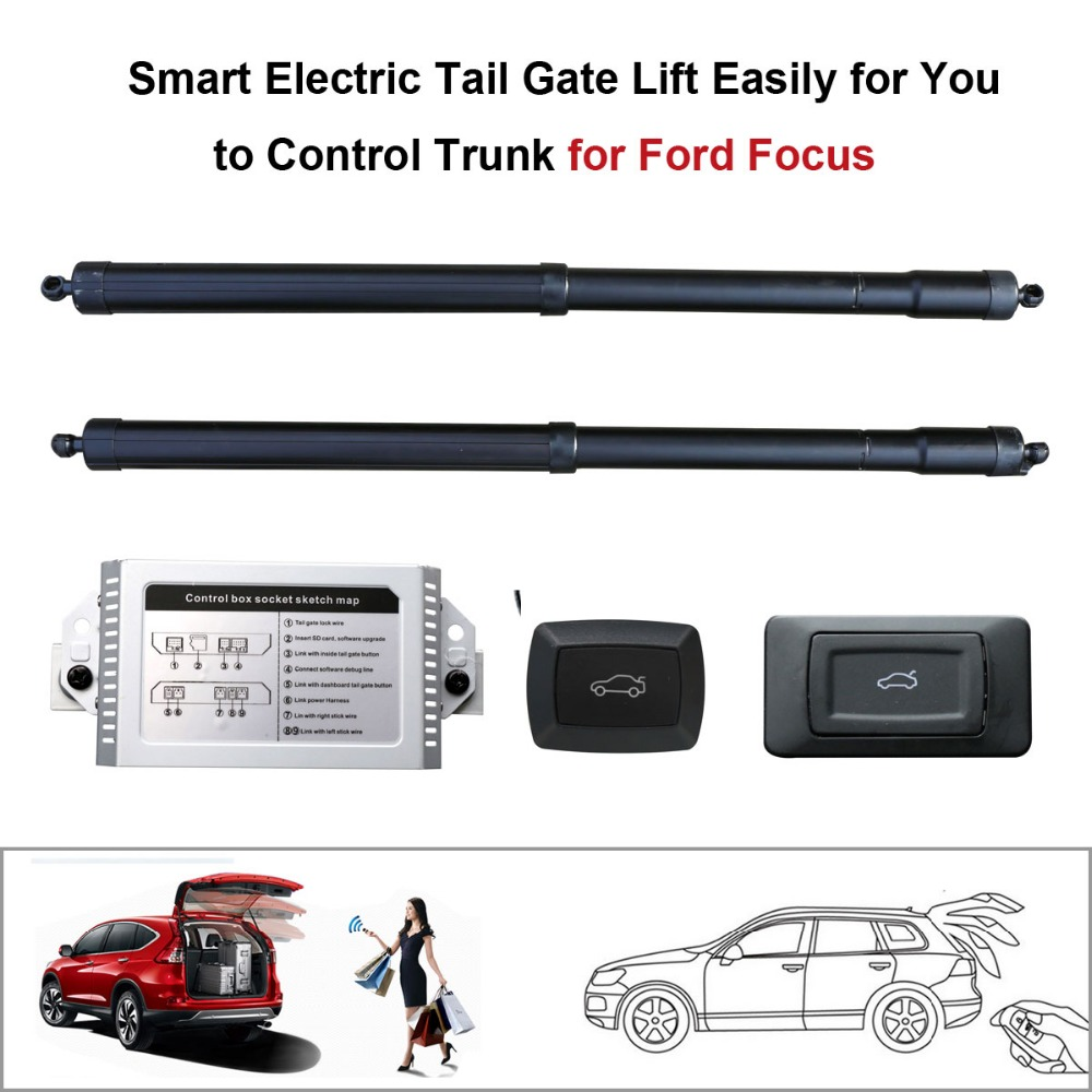 Auto Smart Auto Electric Tail Gate Lift For Ford Focus Remote Control Drive Seat Tail Gate Button Set Height Avoid Pinch