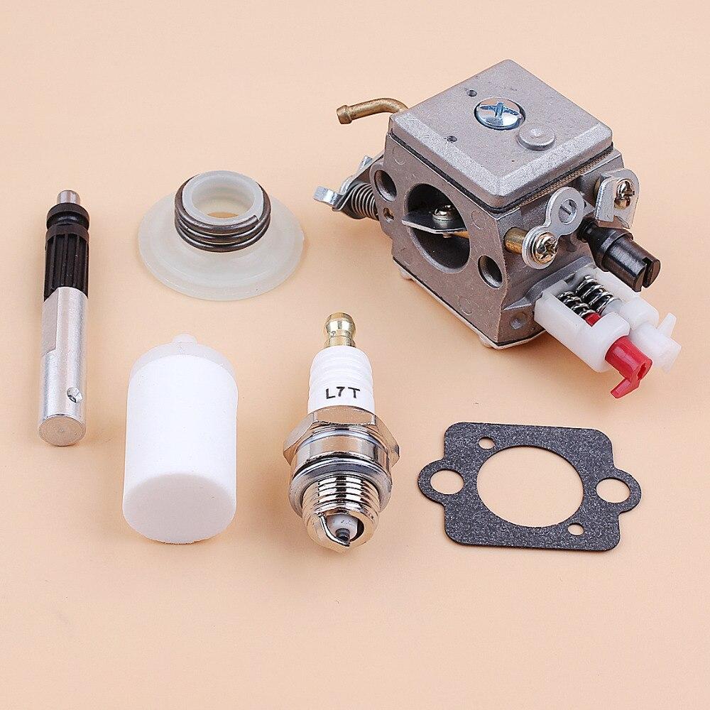 Tools : Carburetor Oil Pump Piston Worm Gear Kit For Husqvarna 340 345 346XP 350 353 Chainsaw Zama C3-EL18B Carb 503281812