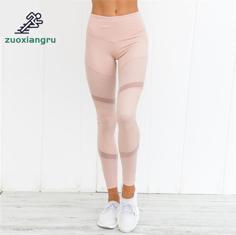 Acheter Zuoxiangru Yoga Pantalon Femmes Gym Leggings Sport Pantalon Femmes Femmes de Maille Couture De Yoga Leggings Collants Running Femmes de Yoga Pantalon fiable fournisseurs