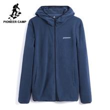パイオニアキャンプミュウ冬暖かいフリースジャケット男性ブランド服ジッパー付きジャケットコート男性厚み上着 AJK802309