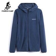 Pioneer campo mew panno morbido di inverno caldo giacca abbigliamento di marca degli uomini della chiusura lampo solido giacca con cappuccio del cappotto maschile ispessiscono la tuta sportiva AJK802309