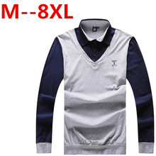 10XL 9XL 8XL 7XL 6XL 5XL spring and autumn classical money men's fashion casual Slim solid color lapel long-sleeved polo shirt